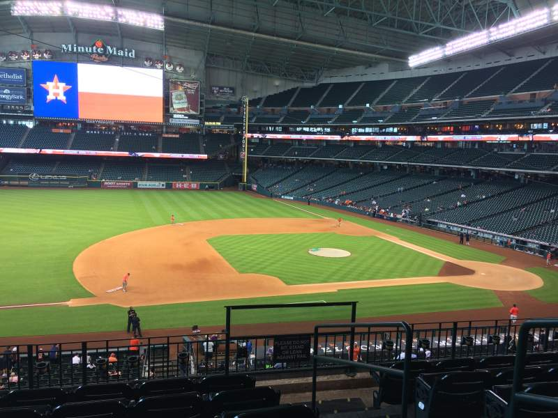 Seating view for Minute Maid Park Section 211 Row 6