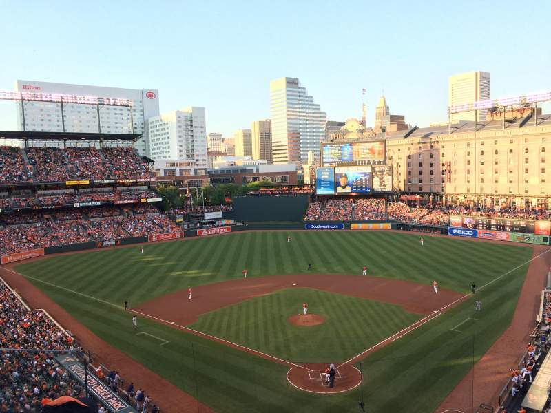 Seating view for Oriole Park at Camden Yards Section 338 Row 3