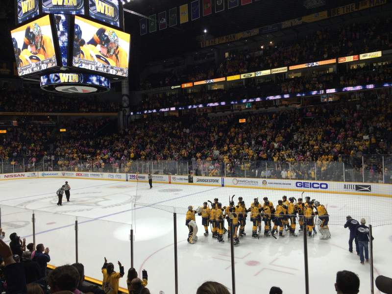 Seating view for Bridgestone Arena Section 118 Row LL Seat 7