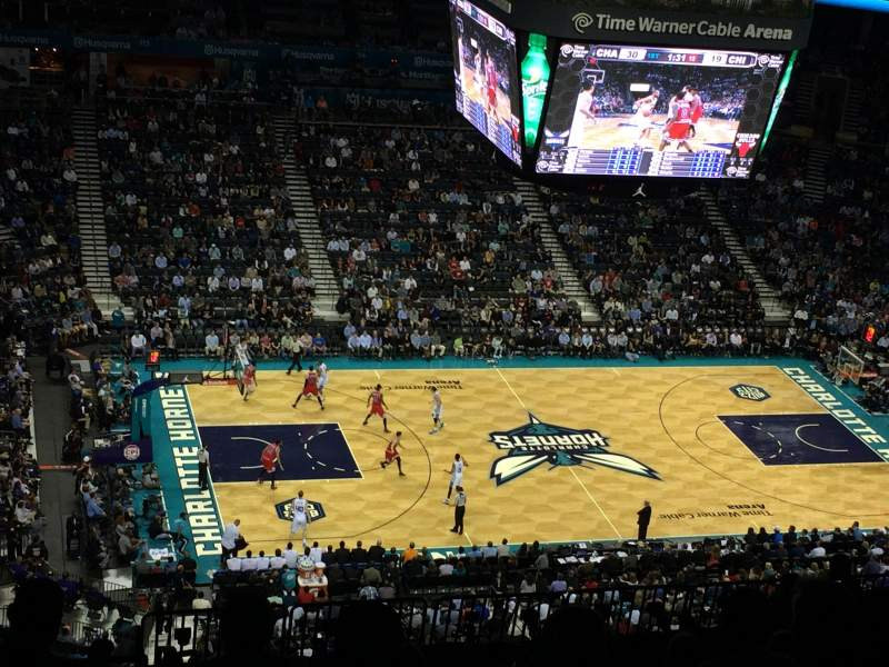 Seating view for Spectrum Center Section 210 Row R Seat 1