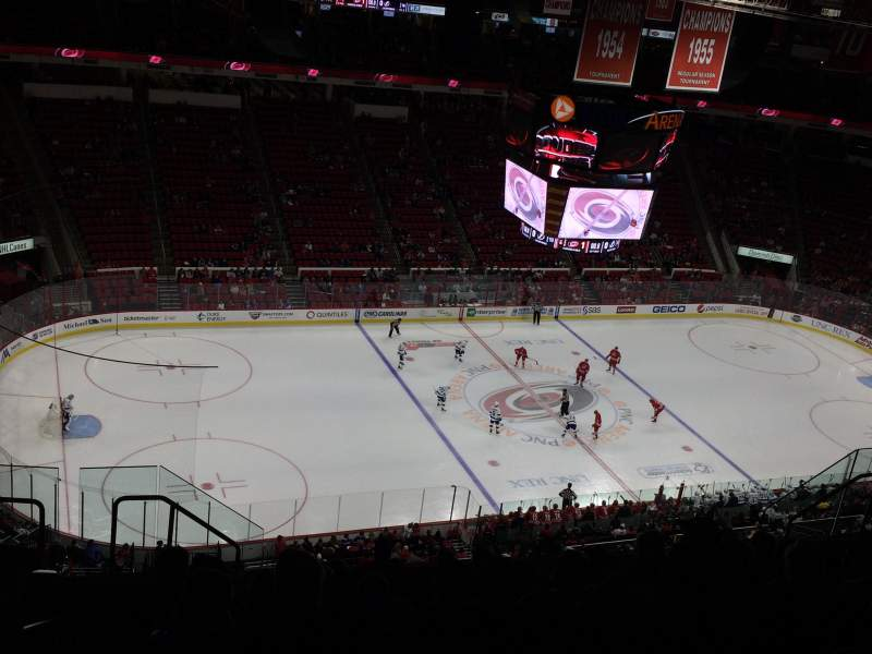 Seating view for PNC Arena Section 308 Row K Seat 16