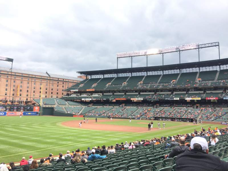 Seating view for Oriole Park at Camden Yards Section 64 Row 20 Seat 1