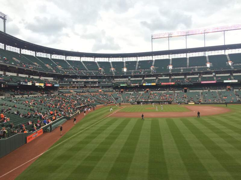 Seating view for Oriole Park at Camden Yards Section SRO (Right Field Flag Court)