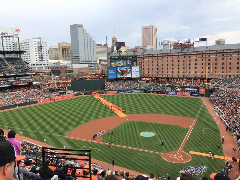 Seating view for Oriole Park at Camden Yards Section 344 Row 11 Seat 7