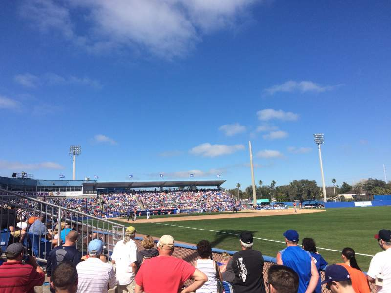 Seating view for Dunedin Stadium Section Standing Room (Right Field)