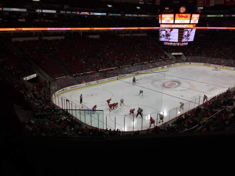 Seating view for PNC Arena Section 209 Row D Seat 1