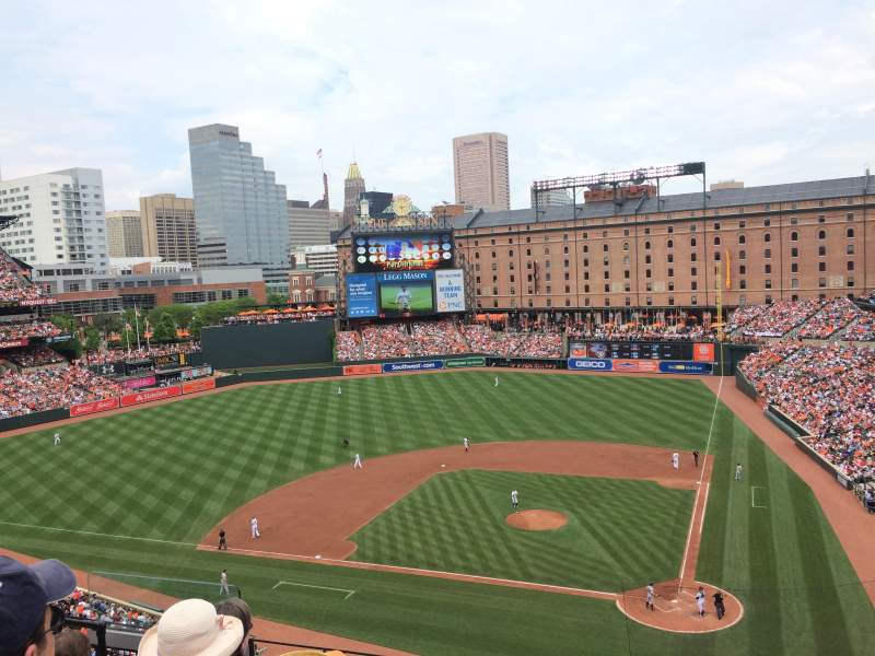 Seating view for Oriole Park at Camden Yards Section 346 Row 5