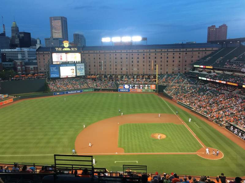 Seating view for Oriole Park at Camden Yards Section 352 Row 18