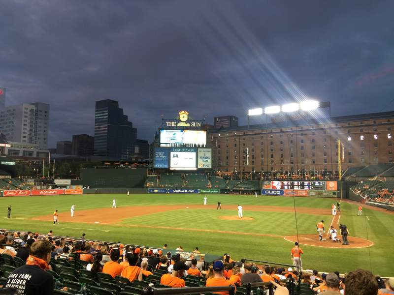 Seating view for Oriole Park at Camden Yards Section 42 Row 20