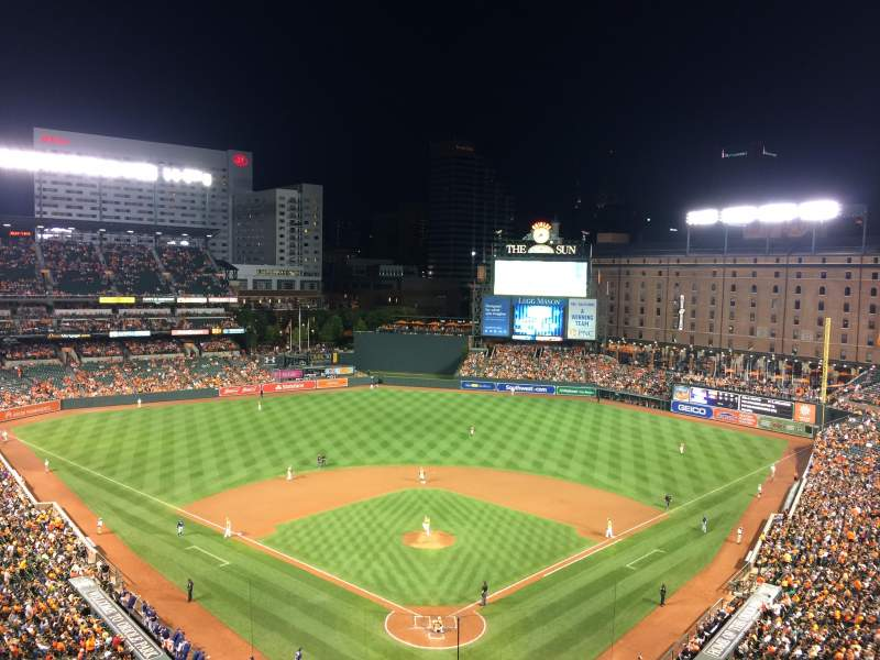Seating view for Oriole Park at Camden Yards Section 336 Row 13