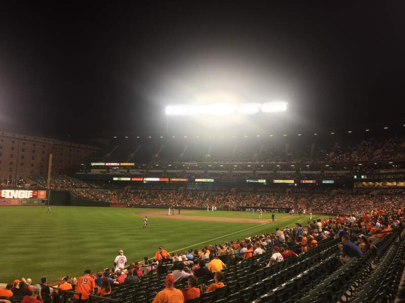 Seating view for Oriole Park at Camden Yards Section 72 Row 20
