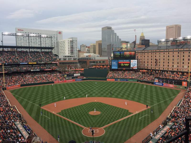 Seating view for Oriole Park at Camden Yards Section 336 Row 10