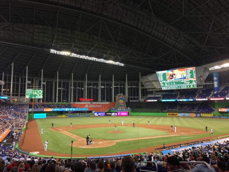 Seating view for Marlins Park Section 13 Row 15
