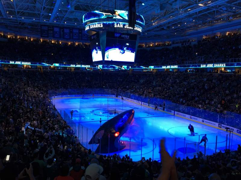 Seating view for SAP Center Section 124 Row 23 Seat 9