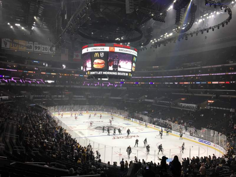 Seating view for Staples Center Section 209 Row 12 Seat 22
