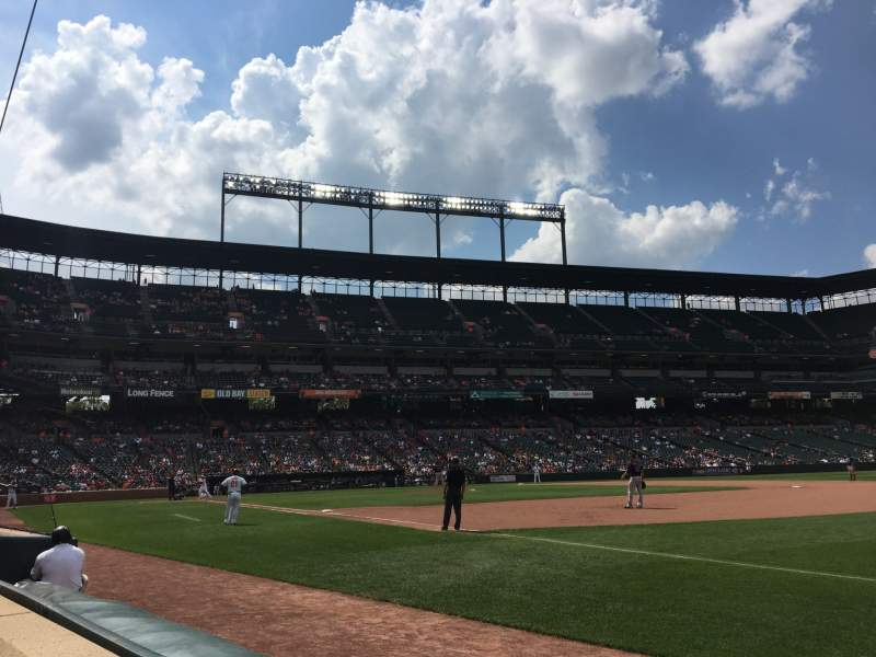 Seating view for Oriole Park at Camden Yards Section 12 Row 1