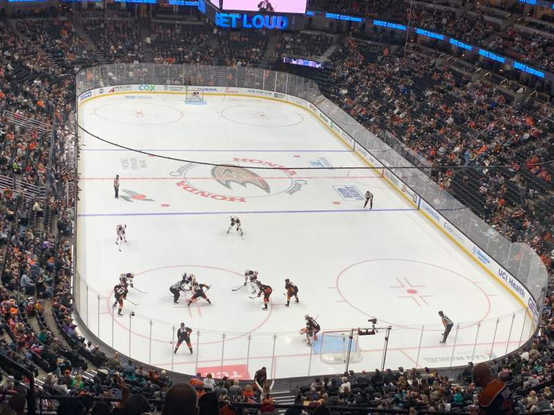 Seating view for Honda Center Section 402 Row K