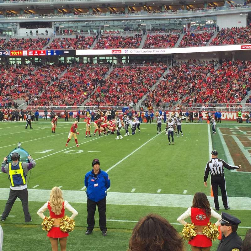 Seating view for Levi's Stadium Section 109 Row 4 Seat 16