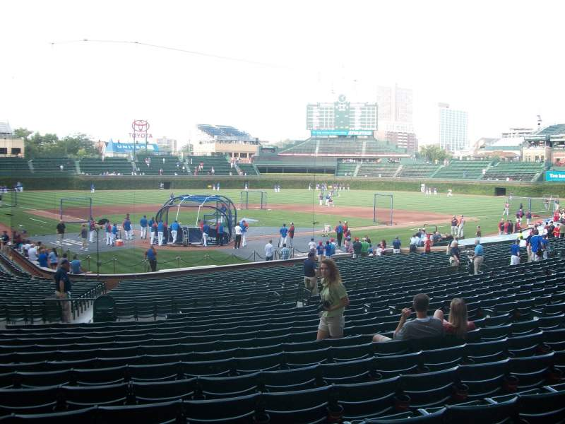 Seating view for Wrigley Field Section 123 Row 5 Seat 8