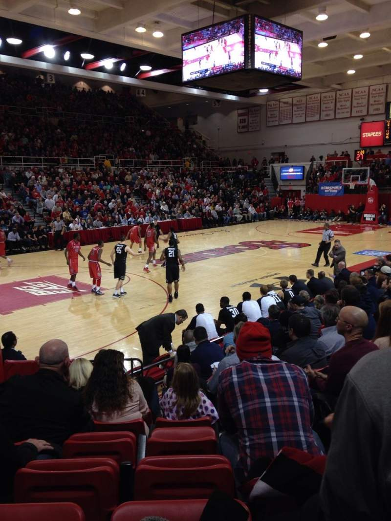 Seating view for Carnesecca arena Section 11 Row JJ Seat 9