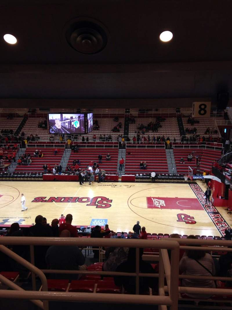 Seating view for Carnesecca Arena Section 8 Row P Seat 19
