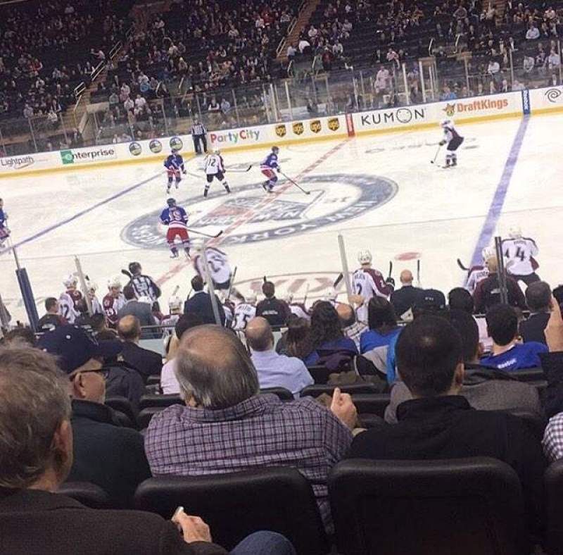 Seating view for Madison Square Garden Section 118 Row 6 Seat 8