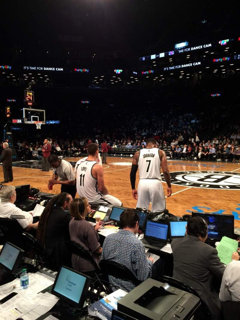 Seating view for Barclays Center Section 8 Row 1 Seat 1