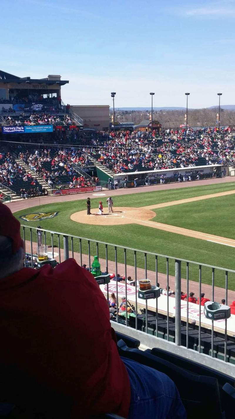 Seating view for Coca-Cola Park Section 202 Row C Seat 15