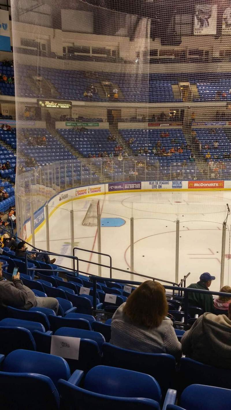 Seating view for Mohegan Sun Arena at Casey Plaza Section 106 Row M Seat 19