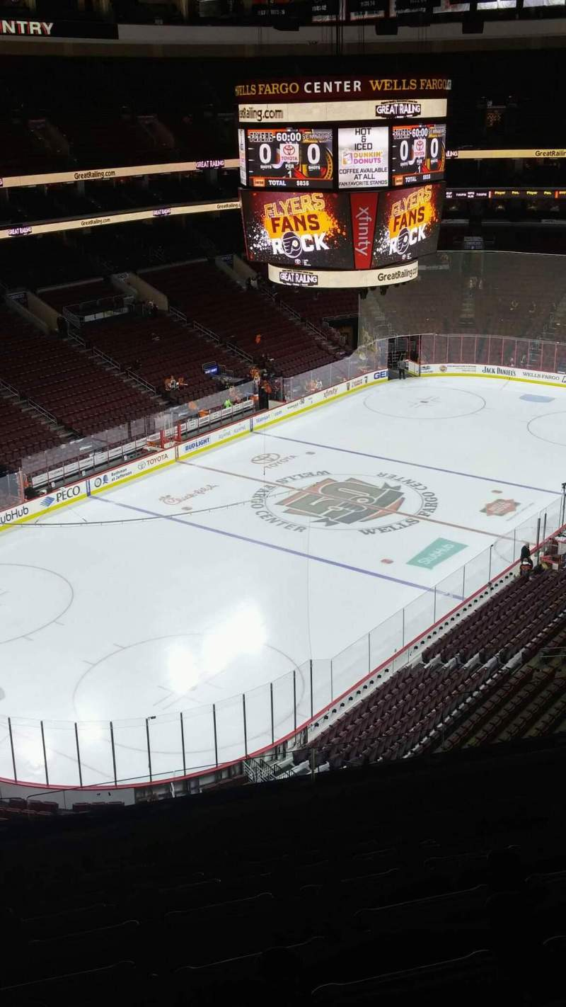 Seating view for Wells Fargo Center Section 209A Row 9 Seat 10