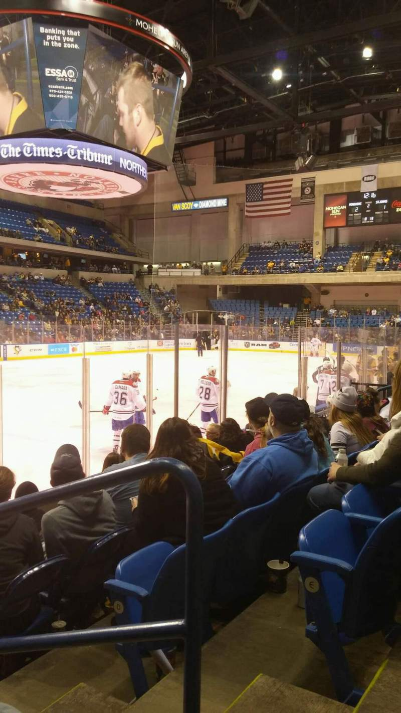Seating view for Mohegan Sun Arena at Casey Plaza Section 106 Row F Seat 1