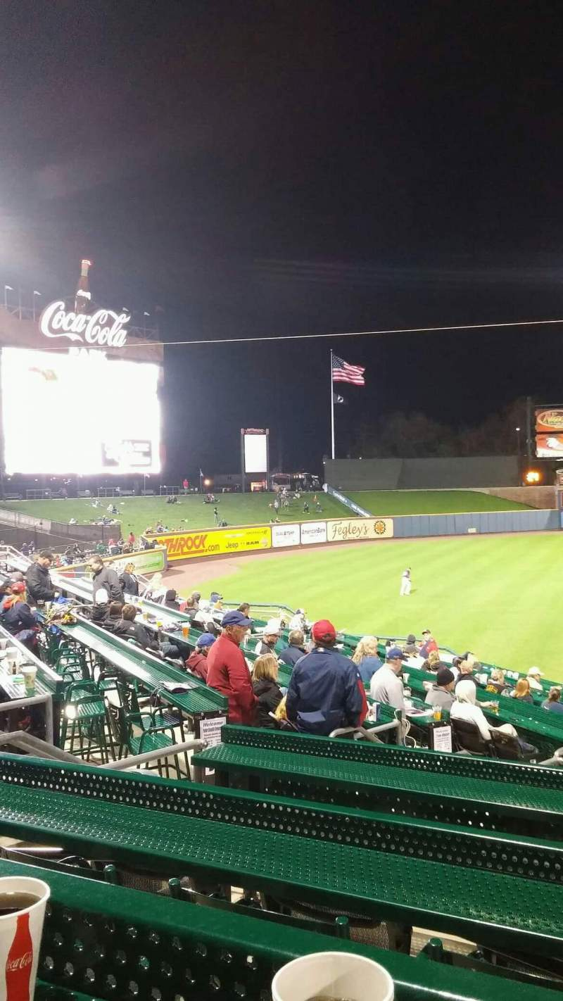 Seating view for Coca-Cola Park Section Berks Picnic Patio Row F1 Seat 1