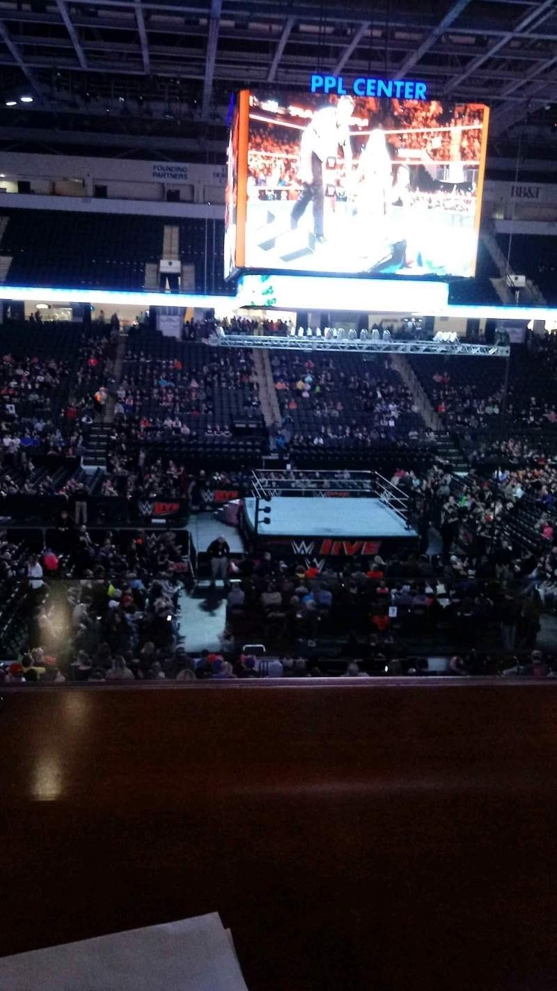 Seating view for PPL Center Section Loge Box 7 Row 1 Seat 1