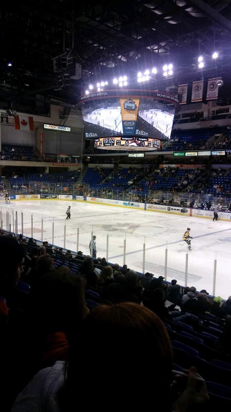 Mohegan Sun Arena at Casey Plaza, section: 114, row: P, seat: 20