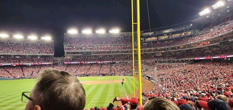 Seating view for Nationals Park Section 106 Row AA Seat 17