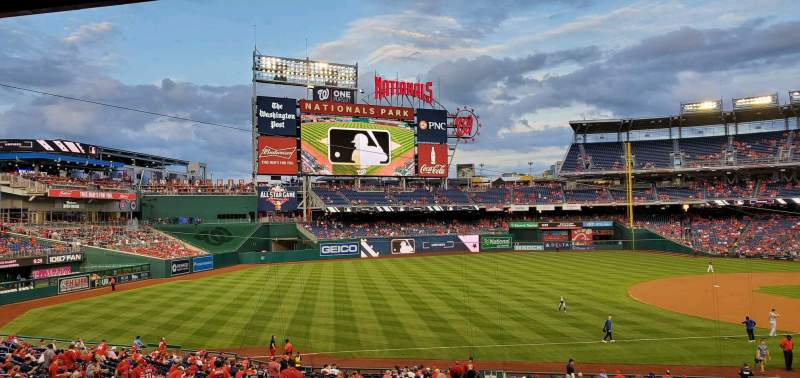 Seating view for Nationals Park Section 112 Row TT Seat 21