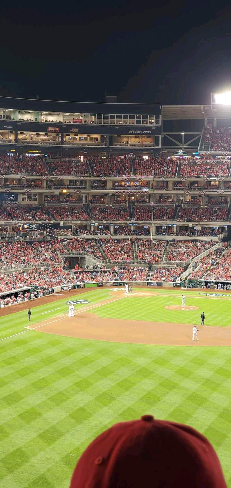 Seating view for Nationals Park Section 240 Row P Seat 3