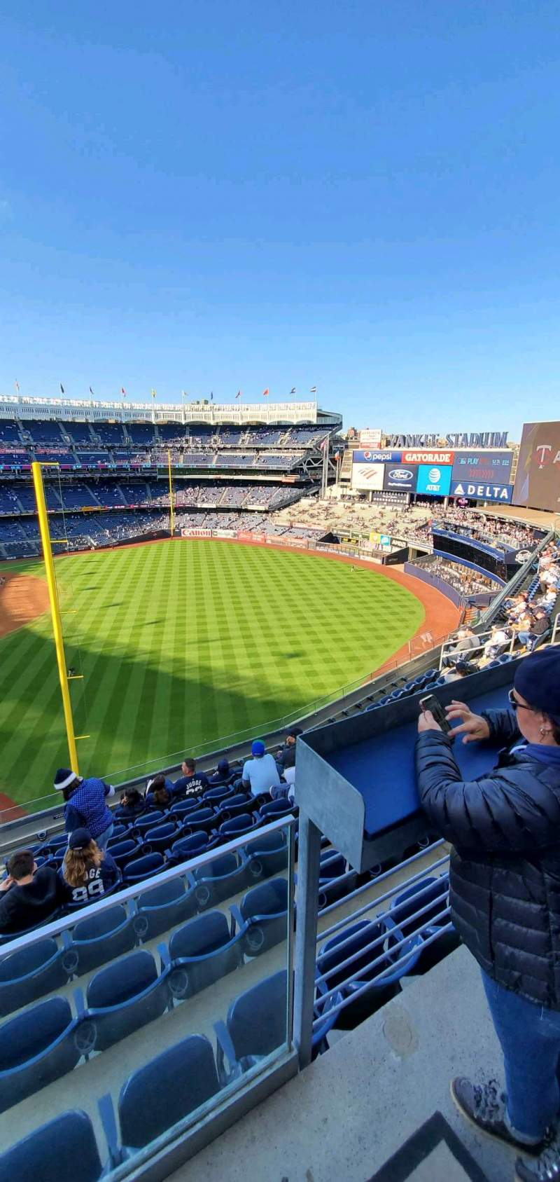 Seating view for Yankee Stadium Section 309 Row 6 Seat 9