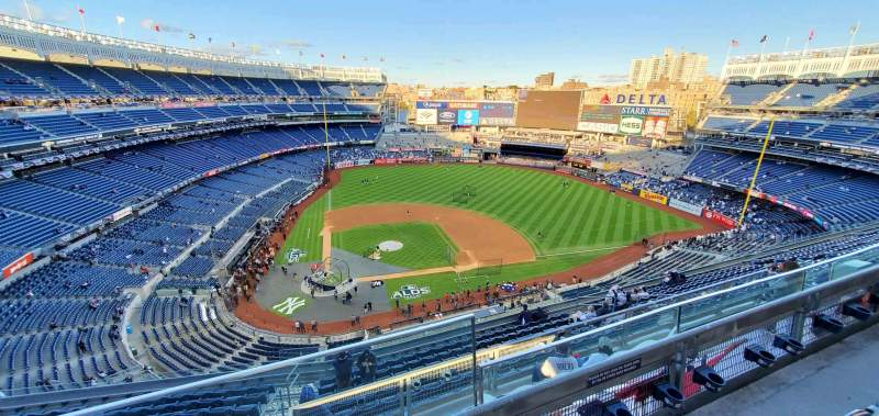 Seating view for Yankee Stadium Section 418 Row 14 Seat 1