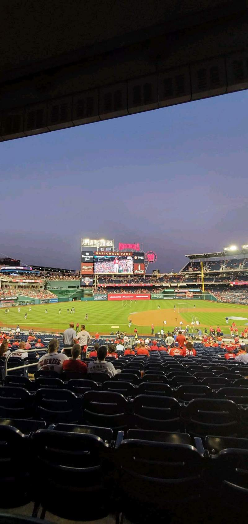 Seating view for Nationals Park Section 114 Row UU Seat 14