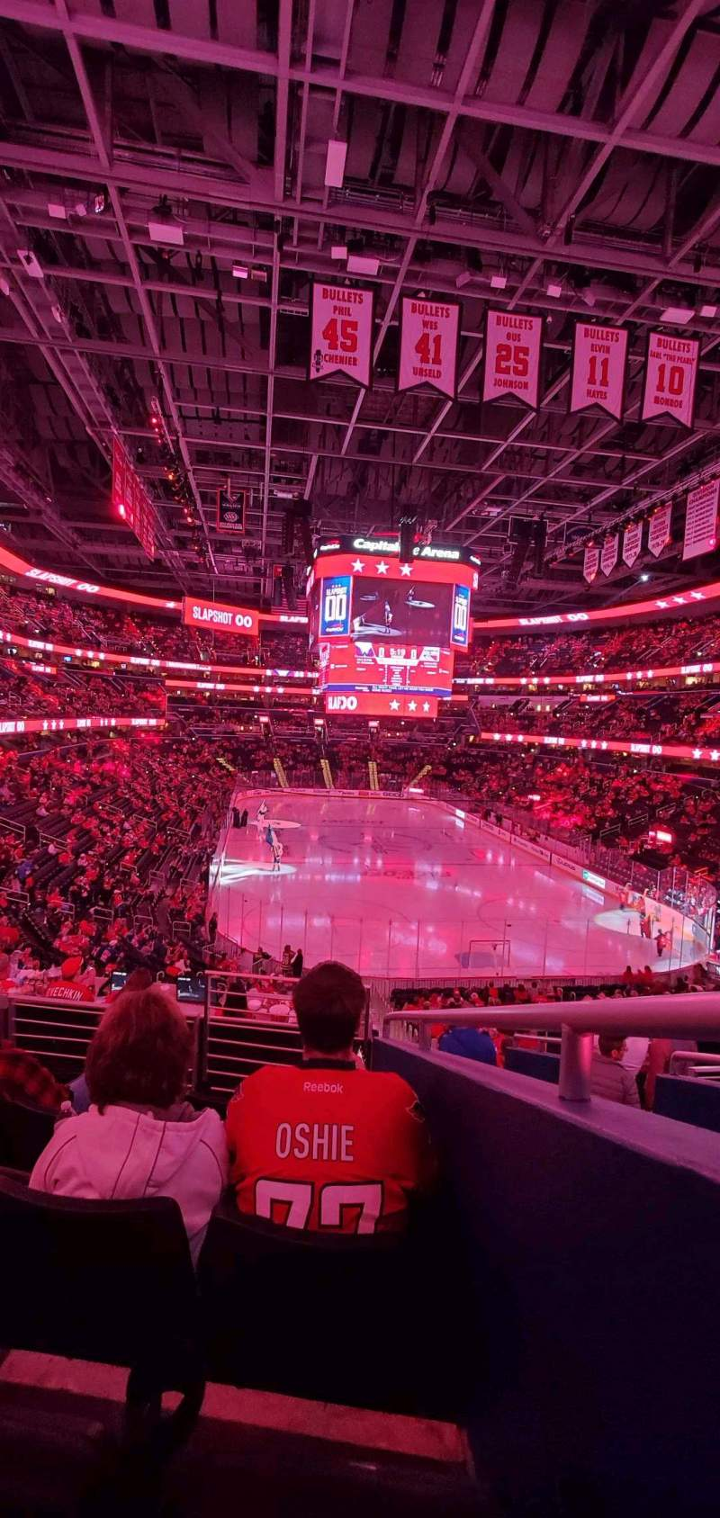Seating view for Capital One Arena Section 115 Row Y