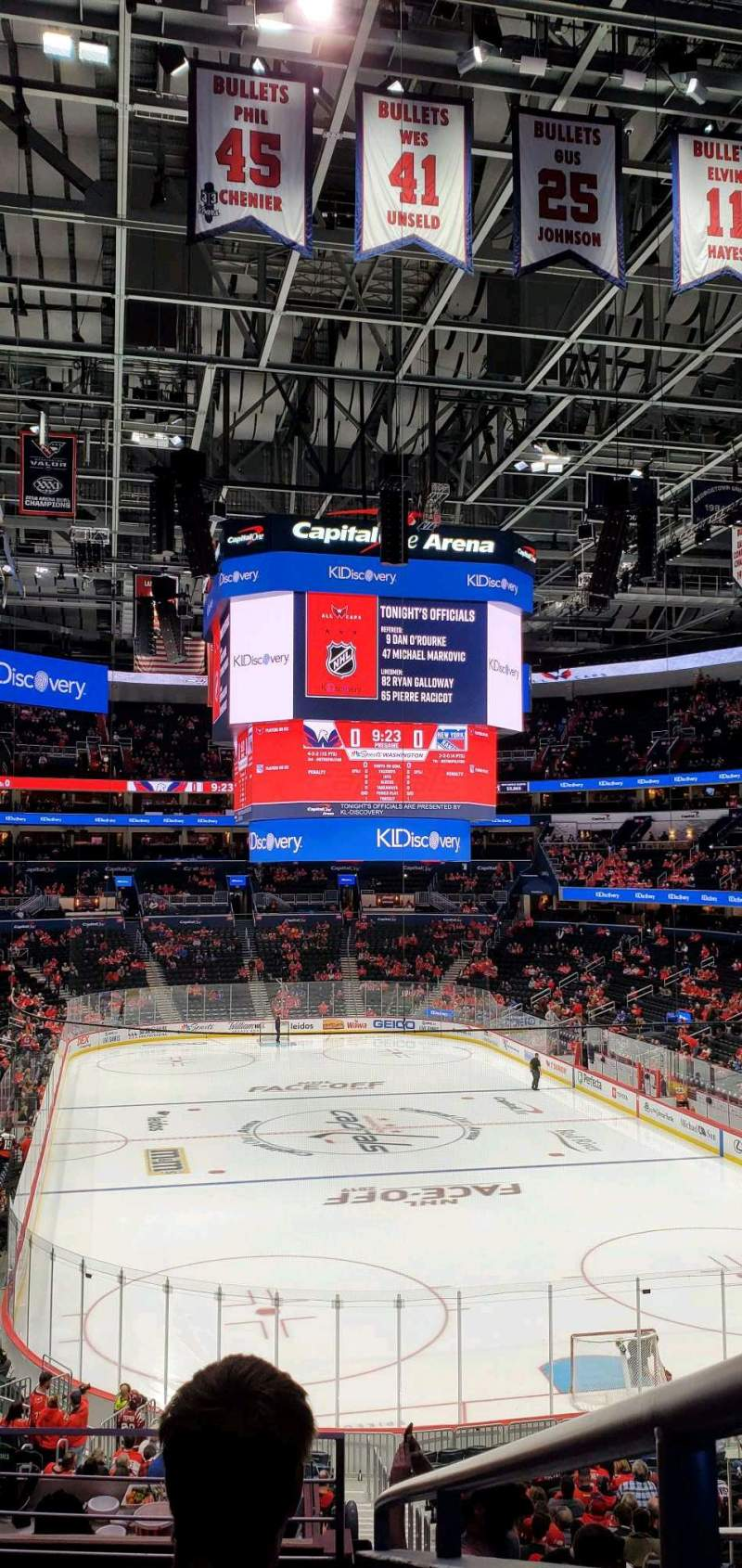 Seating view for Capital One Arena Section 104 Row Y