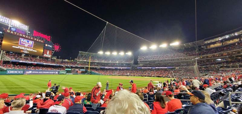 Seating view for Nationals Park Section 110 Row M Seat 9