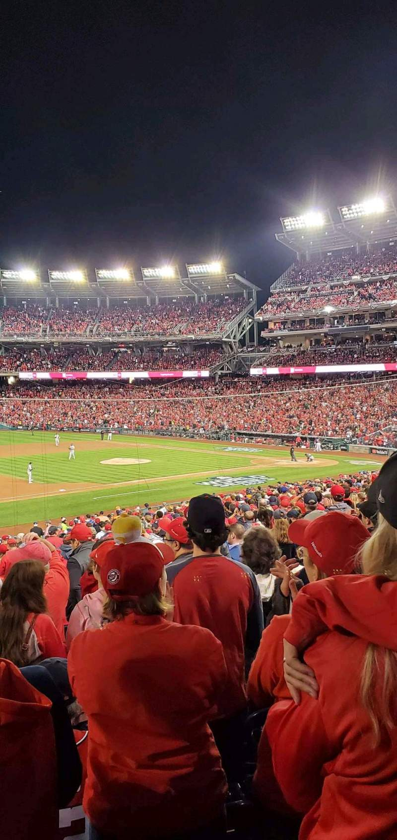 Seating view for Nationals Park Section 113 Row PP Seat 9