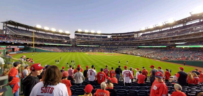 Seating view for Nationals Park Section 101 Row R Seat 18