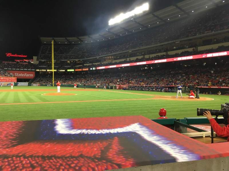 Seating view for Angel Stadium Section F112 Row D Seat 5