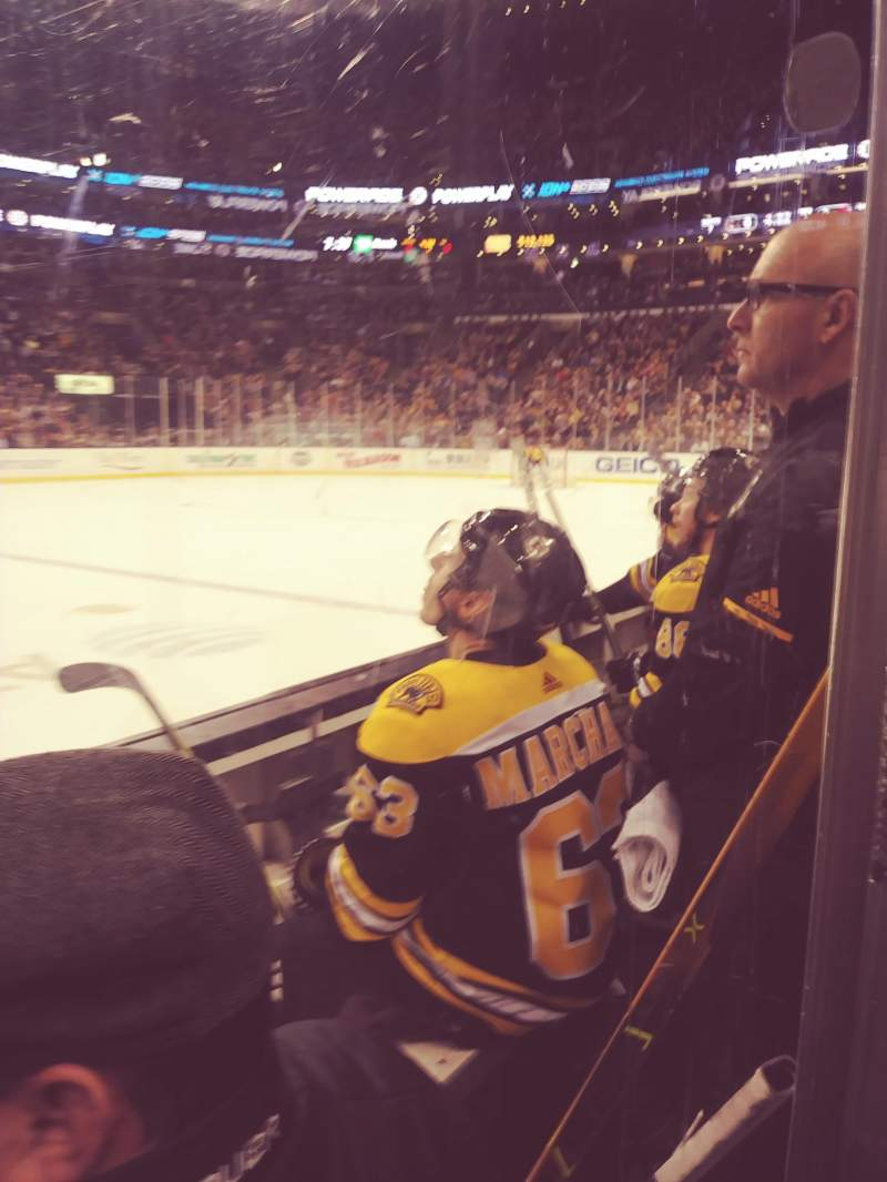 TD Garden, section: Loge 1, row: 3, seat: 8