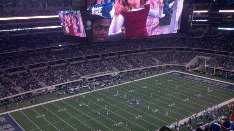 Seating view for AT&T Stadium Section 417 Row 6 Seat 17