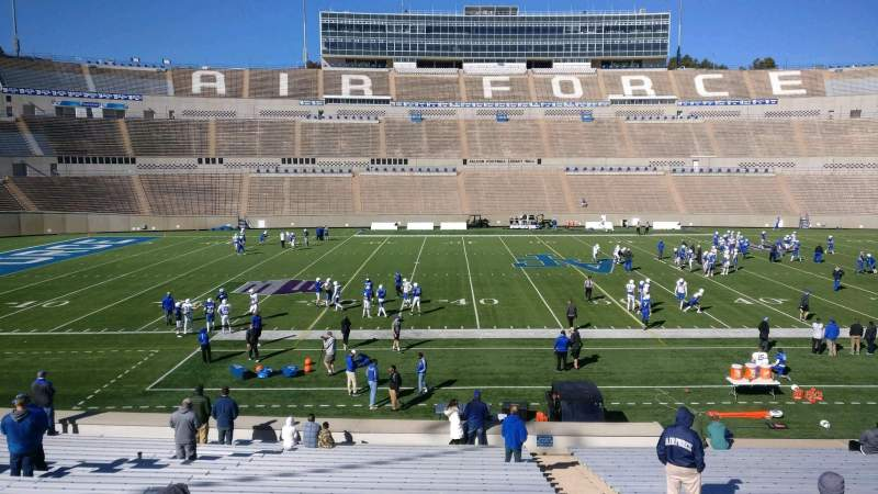 Seating view for Falcon Stadium Section M22 Row AA Seat 3