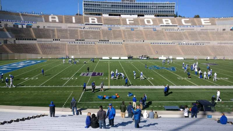 Seating view for Falcon Stadium Section L23 Row AA Seat 20